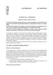 Rapport de la Commission-Jérôme Christen - Canton de Vaud