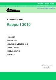 Rapport 2010 plan op final 2 _ano_ - Canton de Vaud