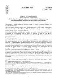 Rapport de la commission - Régis Courdesse - Canton de Vaud
