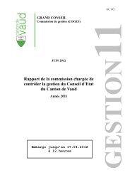 COGES - Rapport de gestion 2011-TM - Canton de Vaud