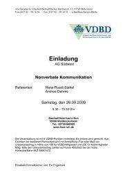 Nonverbale Kommunikation - VDBD