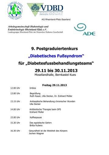 Arbeitsgemeinschaft Diabetologie und Endokrinologie ... - VDBD