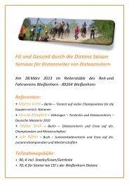 2013 Einladung Seminar Distanzreiter.pdf - Endurance Team Klingbeil