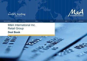 M&A International Inc.: Retail Deal Book - Angermann M&A ...
