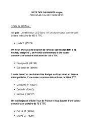 LISTE DES GAGNANTS du jeu « Cartes LCL Tour de France 2012 ...