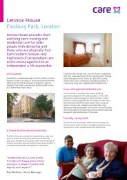 Lennox House Finsbury Park, London - Compare Care Homes