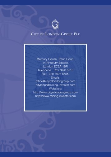Mercury House, Triton Court, 14 Finsbury Square, London EC2A ...