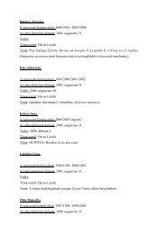 Báthory Orsolya A szervezett képzés ideje: 2000/2001- 2003/2004 ...
