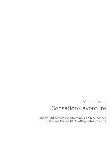 Sensations aventure - E-Merchant