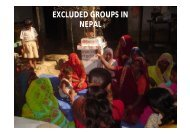 EXCLUDED GROUPS IN NEPAL - MDG in Asia and the Pacific