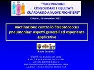Vaccinazione contro lo Streptococcus pneumoniae - ASL n. 4 ...