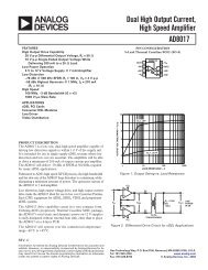 AD8017 DS - Analog Devices