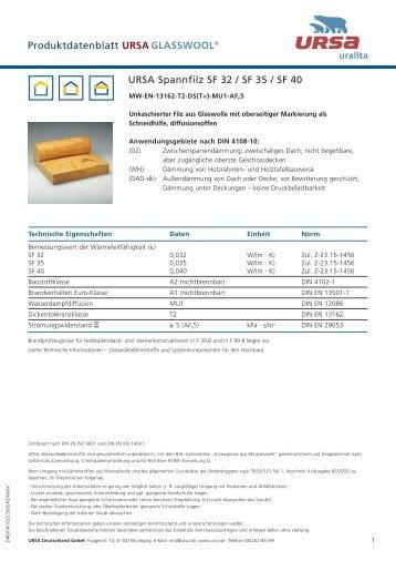 URSA Produktdatenblätter - DUMA GmbH