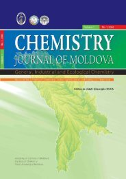 Chemistry Journal of Moldova - Academia de Ştiinţe a Moldovei