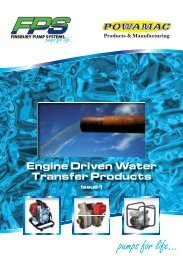 Engine Driven Water Transfer Products - Finsbury Pump Systems