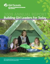 Annual Report 2009 2.pmd - Girl Scouts of Minnesota and ...