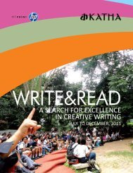 Write&Read Report 2011 - Katha