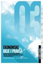 EKONOMSKE IDEJE I PRAKSA - Grupa za kreativnu ekonomiju