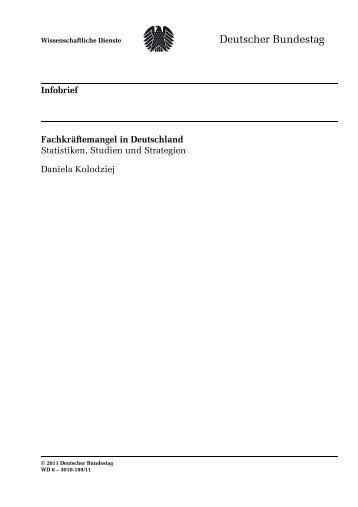 Fachkräftemangel in Deutschland - Deutscher Bundestag