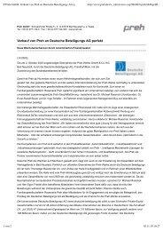 P_Preh GmbH_ Verkauf von Preh an Deutsche Beteiligungs AG ...