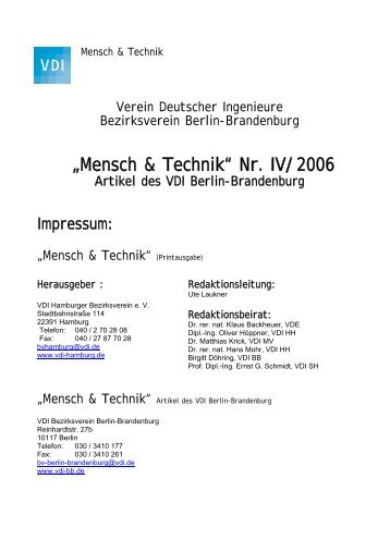 tb/archiv/Mensch & Technik BB Nr IV - (VDI) Berlin-Brandenburg