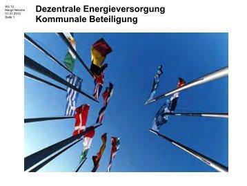 Dezentrale Energieversorgung Kommunale Beteiligung