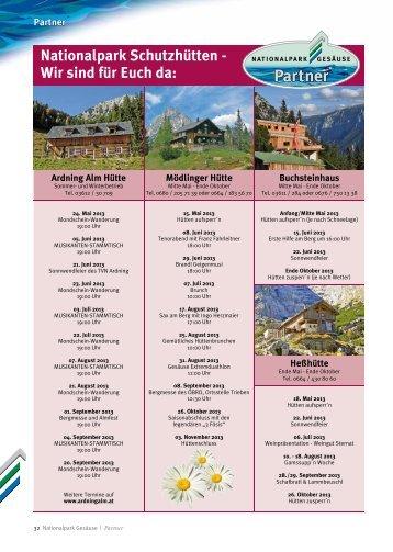 Partner Nationalpark Schutzhütten - Wir sind für Euch da - St. Gallen