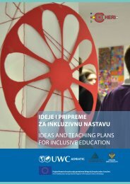 Ideje I prIpreme za InkluzIvnu nastavu Ideas and teachIng plans for ...