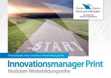 Innovationsmanager 2013 - Verband Druck und Medien Bayern eV