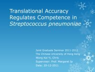 Translational Accuracy Regulates Competence in Streptococcus ...
