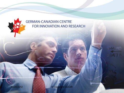 Vorstellung des Alberta-German Collaboration ... - TUM-Tech GmbH