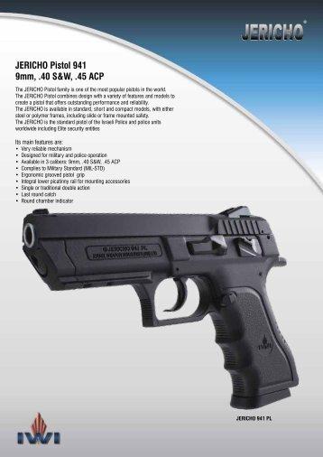 JERICHO Pistol 941 9mm, .40 S&W, .45 ACP - Israel Weapon ...
