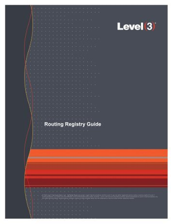 Level 3 Routing Registry Guide (2012) - NETS