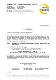 klicken - Verband der Zahnärzte im Saarland