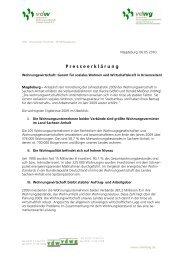 P resseerkl ä rung - Verband der Wohnungswirtschaft Sachsen ...