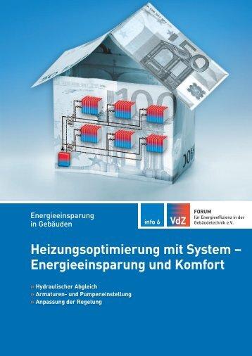 Heizungsoptimierung mit System – Energieeinsparung und ... - VdZ