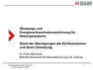 Ökodesign und Energieverbrauchskennzeichnung für ... - VdZ