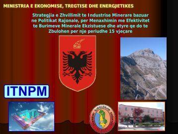 MINISTRIA E EKONOMISE, TREGTISE DHE ... - Albeiti.org