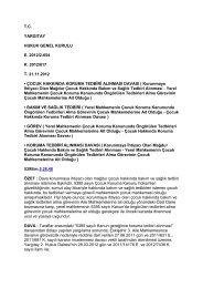 2013 ocak ayı yargıtay hukuk genel kurul karar ... - Adaletbiz.com