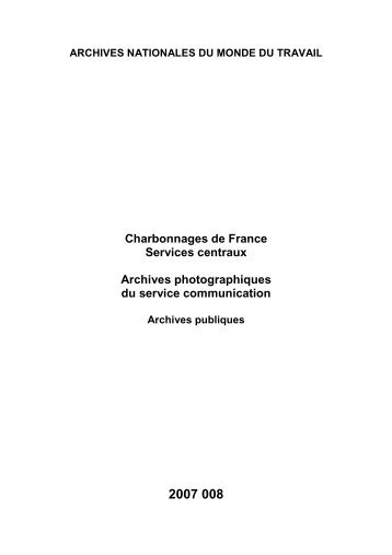 2007 008 Inventaire phototheque siege CdF - Archives nationales
