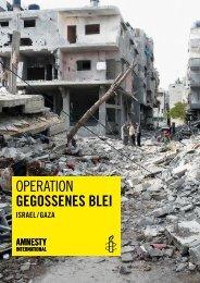 OperatiOn GEGOSSENES BLEl - Amnesty Hagen