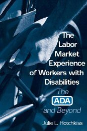 The Labor Market Experience of Workers With Disabilities