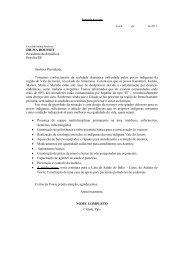 Sugestão de carta às autoridades - Cimi