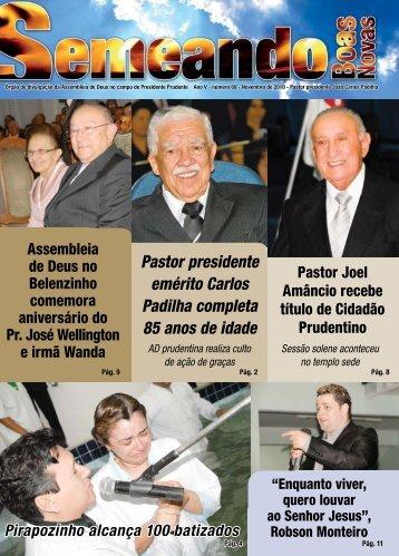 Pastor presidente emérito Carlos Padilha ... - AD em Prudente