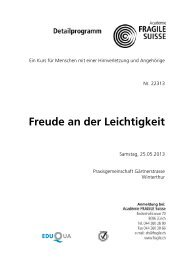 Detailprogramm - Fragile Suisse