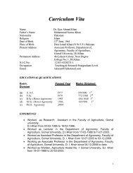 Curriculum Vita - Gomal University