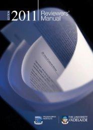 JBI Reviewers Manual - The Joanna Briggs Institute