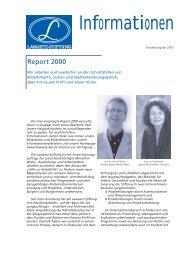Report 2000 - Lawaetz-Stiftung