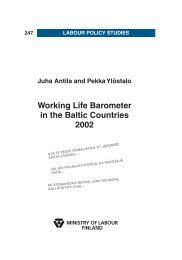 Working Life Barometer in the Baltic Countries 2002 (pdf) - mol.fi