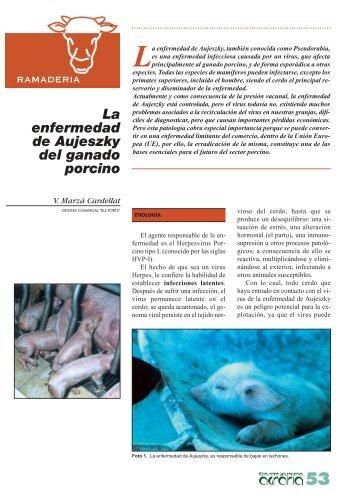 La enfermedad de Aujeszky del ganado porcino - IVIA